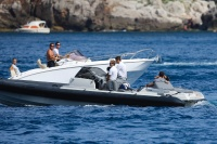 Nina Dobrev and Asustin Stowell enjoy the ocean off the cost the French Riviera (July 26) ZF4MyXUT