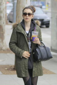 Lily Collins - Out For a Walk, Beverly Hills - February 5th 2017