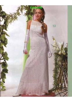 Вязанные свадебные платья.