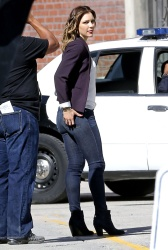 Katharine McPhee on the set of Scorpion in L.A. - 11/4/14