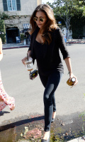 Nina Dobrev with Hilary at Alfred Coffee & Kitchen in West Hollywood (July 29) Z9F74Vkc
