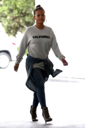 Christina Milian - At a gas station in Beverly Hills 5/9/17
