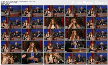 Rachelle Lefevre - Late Show With David Letterman - 7-28-14 (mini-skirt)