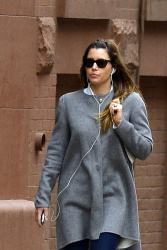 Jessica Biel - out in NYC 4/19/13