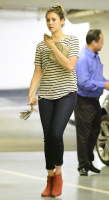 Nina Dobrev heads to a medical building chatting on her cell (June 03) RImBMW9L