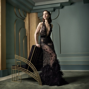Lily Collins - 2017 Vanity Fair Oscar Portrait by Mark Seliger