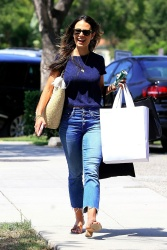 Jordana Brewster - Shopping in Beverly Hills 8/16/17