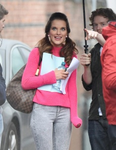 Helen Flanagan - On Set Filming For Coronation Street in Manchester - 23rd February 2017