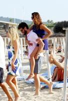 Nina Dobrev with her boyfriend Austin Stowell in Saint-Tropez (July 24) XMenr1ys