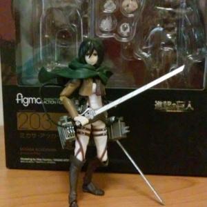 Shingeki No Kyojin Mikasa Action Figure Copia Figma