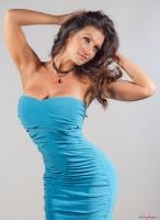 Дениз Милани, фото 5507. Denise Milani Blue Dress 2012 :, foto 5507
