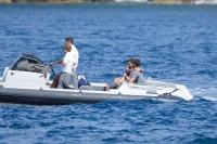 Nina Dobrev and Asustin Stowell enjoy the ocean off the cost the French Riviera (July 26) QJjyvyxY