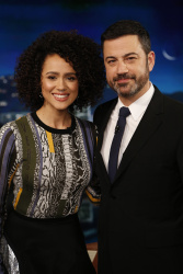 Nathalie Emmanuel - Jimmy Kimmel Live: April 6th 2017