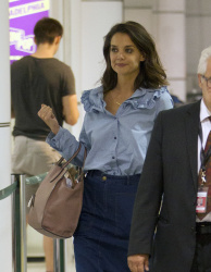 Katie Holmes - At the Airport in Montreal 7/12/17
