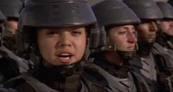 ¯o³nierze kosmosu / Starship Troopers (1997) PL.480p.BDRip.XViD.AC3-J25   Lektor PL +RMVB +x264