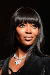 Naomi Campbell walks the runway during Versace show, Paris Haute Couture Fashion Week June