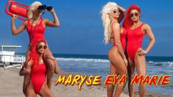 WWE's Maryse & Eva Marie - Baywatch Wallpapers x 2