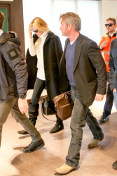 Sean Penn - Sean Penn and Charlize Theron - depart from Rome after a Valentine's Day weekend - February 15, 2015 (37xHQ) CemlstEL
