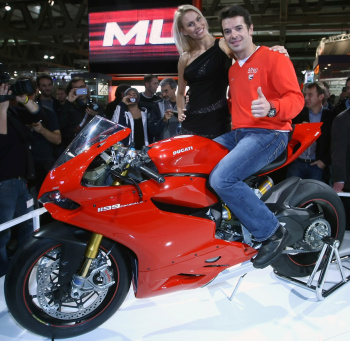Carlos Checa and the Ducati 1199 Panigale