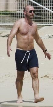 Alan Shearer Family vacation Barbados