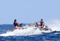 Nina Dobrev with her boyfriend Austin Stowell in Saint-Tropez (July 24) 7AD0Kd50