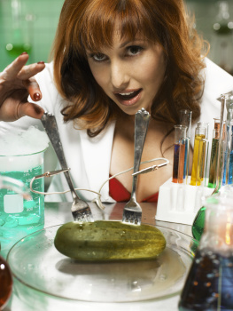 Kari Byron - Lab Coat & Red Bra - FHM PS - Coke & Mentos - 2007 - 23UHQ