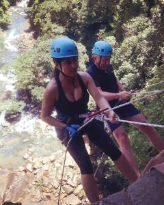 Salma Hayek - Gets In Some Rock Climbing (8/16/17)