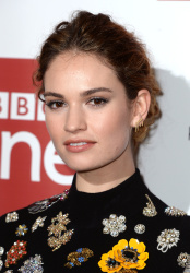 Lily James - War & Peace World Premiere @ The May Fair Hotel in London - 12/14/15