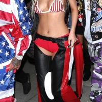 Kylie Jenner   As Dirrty Xtina Arrives in Halloween Party at Bootsy Bellows on Oct 29