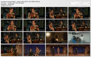 Emma Watson, Late Night with Jimmy Fallon, September 13 2012