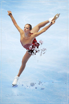 Carolina Kostner - 1x Beautiful MQ painting