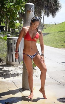 Jennifer Nicole Lee Wonder Woman Bikini Miami