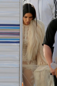 Kim Kardashian - On the Set of Ocean's Eight in Los Angeles - March 6th 2017