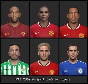 Download PES 2014 Facepack vol.5 by sunbast