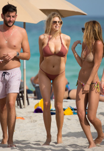 Charlotte McKinney - Bikini On The Beach in Miami - February 19th 2017