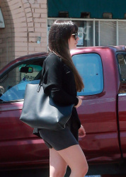 Lea Michele - Out for lunch in Los Angeles 4/18/17