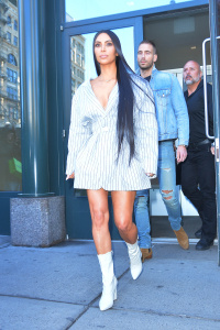 Kim Kardashian - Having lunch At Mercer Kitchen in New York - February 14th 2017