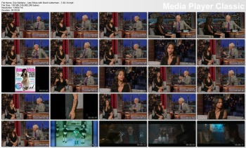 Zoe Saldana - Late Show with David Letterman - 7-30-14