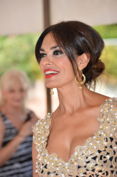 Maria Grazia Cucinotta very cleavy at the 70th Venice International Film Festival - Sep 4, 2013