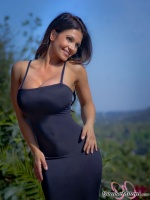 Дениз Милани, фото 5571. Denise Milani Black Dress 2 :, foto 5571