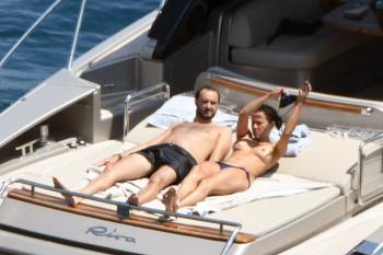 Sophie Marceau - Swimming & Sunbathing - Capri - 31/7/16 - 46pics