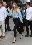 Elizabeth Olsen - arriving at The Late Show With Stephen Colbert in NYC 8/3/17