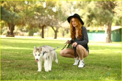 Bella Thorne at a park in Los Angeles 3/15/15