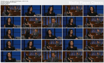 Lucy Liu - Late Night with Seth Meyers - 4-30-14