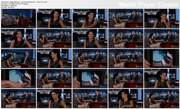 Angie Harmon - Jimmy Kimmel Live - 7-24-14