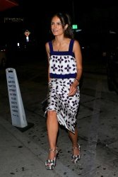 Jordana Brewster - Arrives for dinner at Craig's in West Hollywood 8/19/17