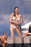 Michelle Rodriguez - White Bikini St. Tropez 7/8/17