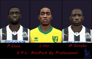 Download PES 2014 EPL Mini Facepack by Professional