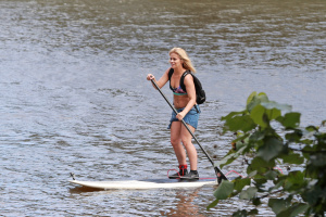 Paige VanZant - Paddle Boarding On Vacation in Hawaii - February 19th 2017
