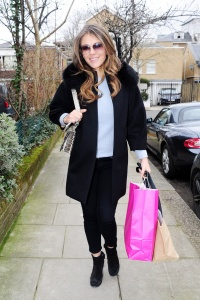 Elizabeth Hurley - Shopping iin London - March 2nd 2017